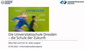 Titelbild der Videoaufzeichnung vom Informations-Elternabend für Schulanfänger:innen im Schuljahr 2022/23 am 7. September 2021